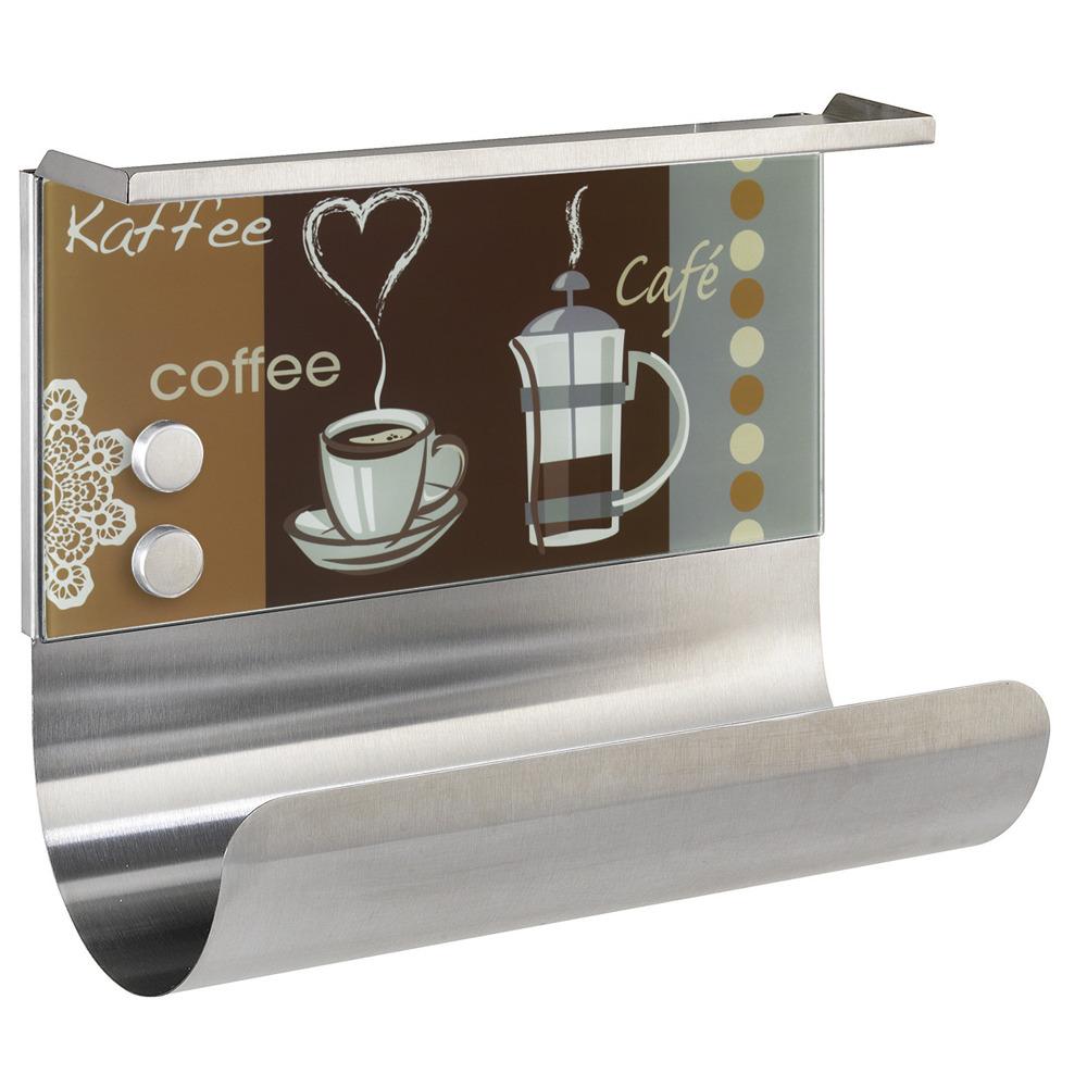 Držák na kuchyňskou roličku COFFEE FLAVOUR, tabule, police, 3v1, WENKO