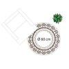 Černobílý kulatý bavlněný koberec ve stylu boho, 120 cm