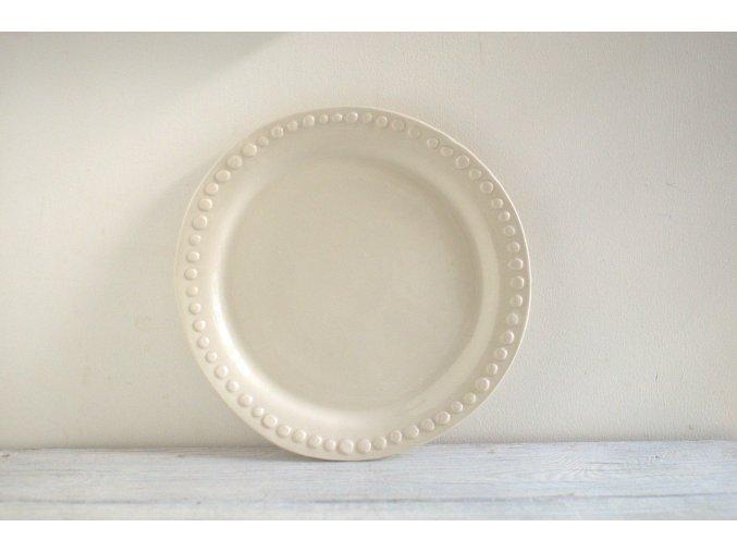 Talíř jídelní s okrajem s puntíky 26 cm