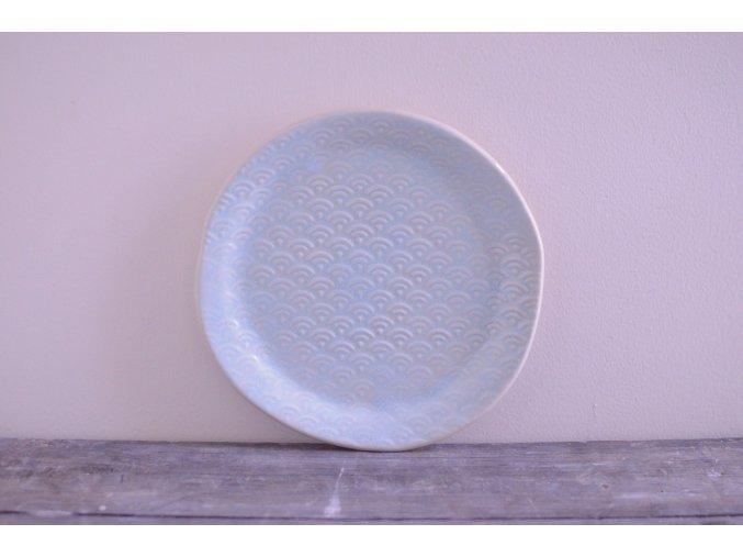 Snídaňový talíř 20 cm světle modrý - japan