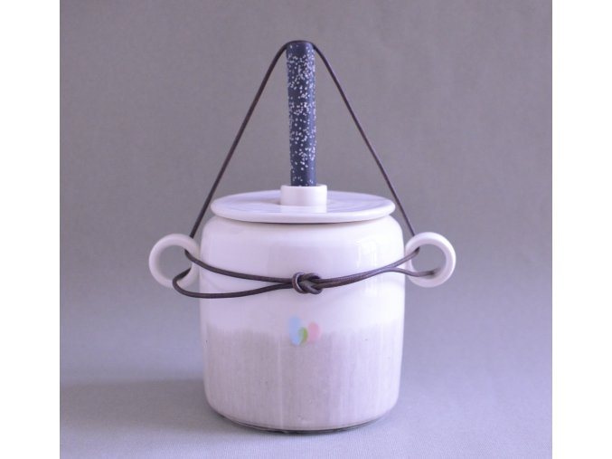 Kvašáček malý porcelánový žíhaný 1l
