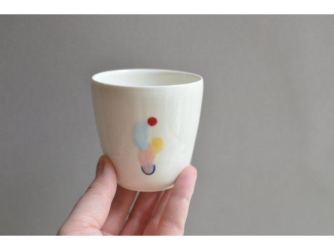 Porcelánový pohárek Barvy 150 ml - č.1