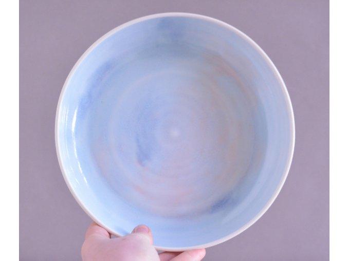 Omáčkový porcelánový 20-21cm - nebeský