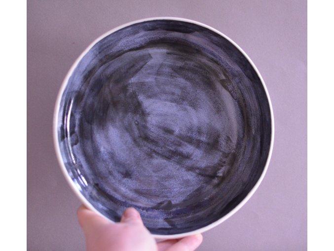 Omáčkový porcelánový 20-21cm - bouřkový tmavý