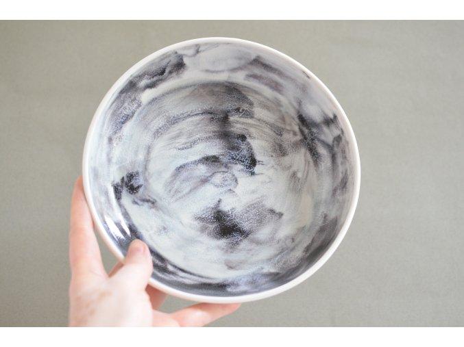 Omáčkový porcelánový 20-21cm - bouřkový