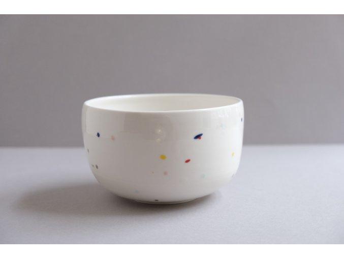 Porcelánová miska 600ml - barevné tečky uvnitř