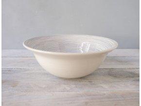 Miska/Hluboký talíř modré proužky se srdíčkem
