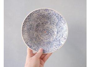 Miska/Hluboký talíř modré tečky se srdíčkem