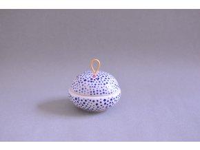 Šperkovnička modře tečkovaná se srdíčkem - menší