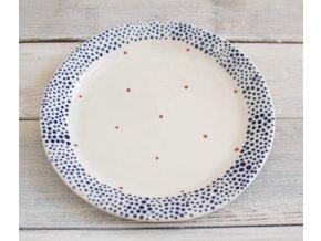 Snídaňový talíř 22cm - červenomodrý