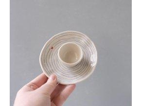 Na vajíčko - pruhovaný se srdíčkem