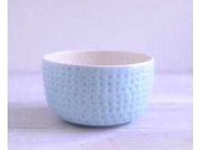 Miska 500 ml - důlkovaná modrá