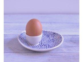 Na vajíčko - modře tečkovaný se srdíčkem