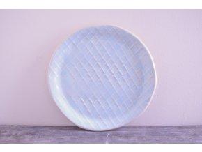 Snídaňový talíř 20 cm světle modrý - baroko