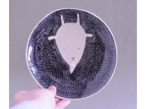 Dezertní talíř 17cm - s černou rohatou kozou