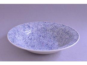 Hluboký široký talíř - tečkovaný se srdíčkem