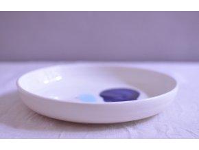 Omáčkový porcelánový 20-21cm - abstraktní č.1