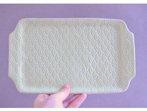 Servírovací talířek světle zelený 26x16 - japan