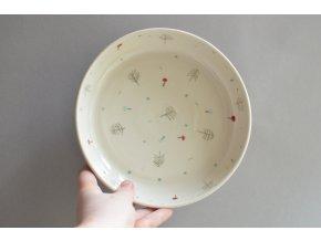Omáčkový talíř 21cm - houbičkový