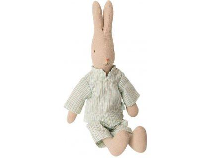 175e9a3a6fc62d0e239cbf0fb867ac5b8bc48afb maileg latkovy zajic v pyzamu rabbit size 1 green bezova barva textil