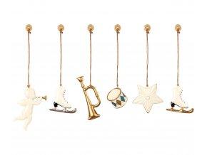 metal ornaments white gold