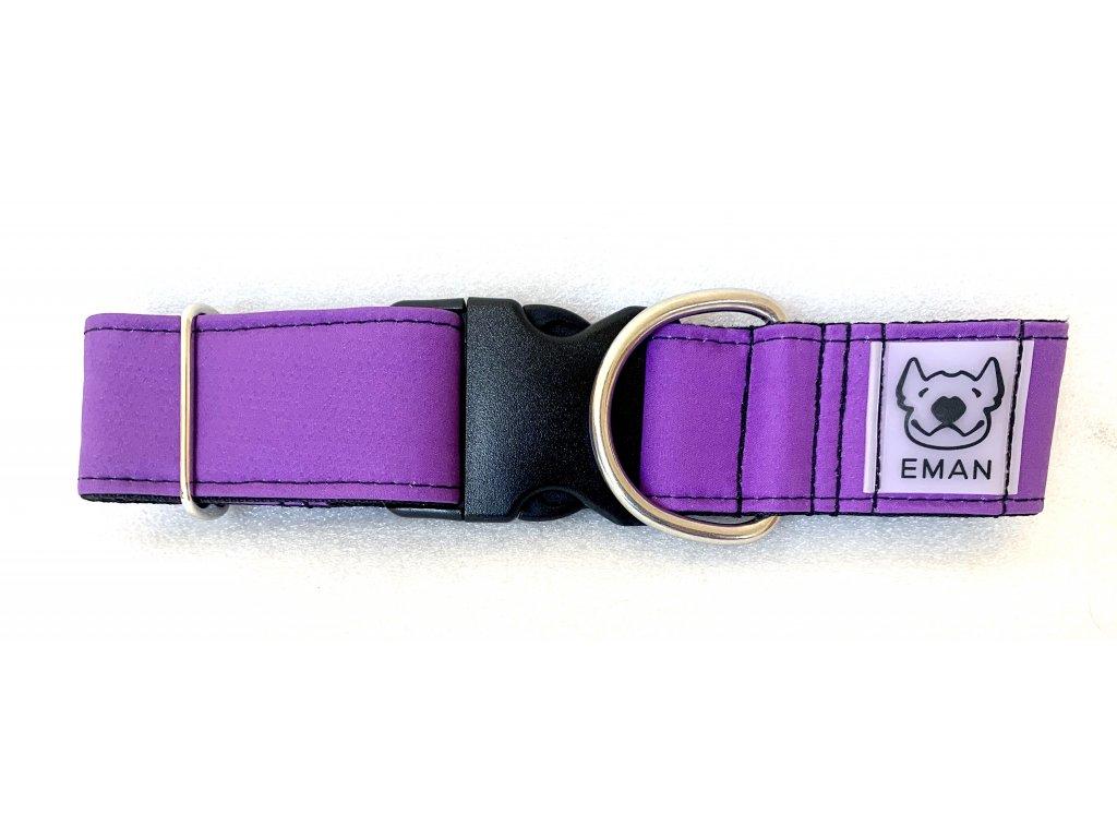 Obojek - klasik fialová (collar classic violet) 4cm