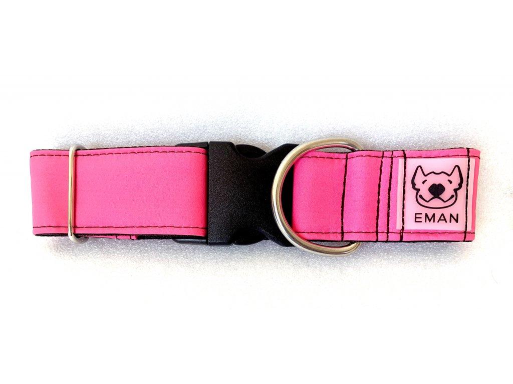 Obojek - klasik růžová (collar classic pink) 5cm