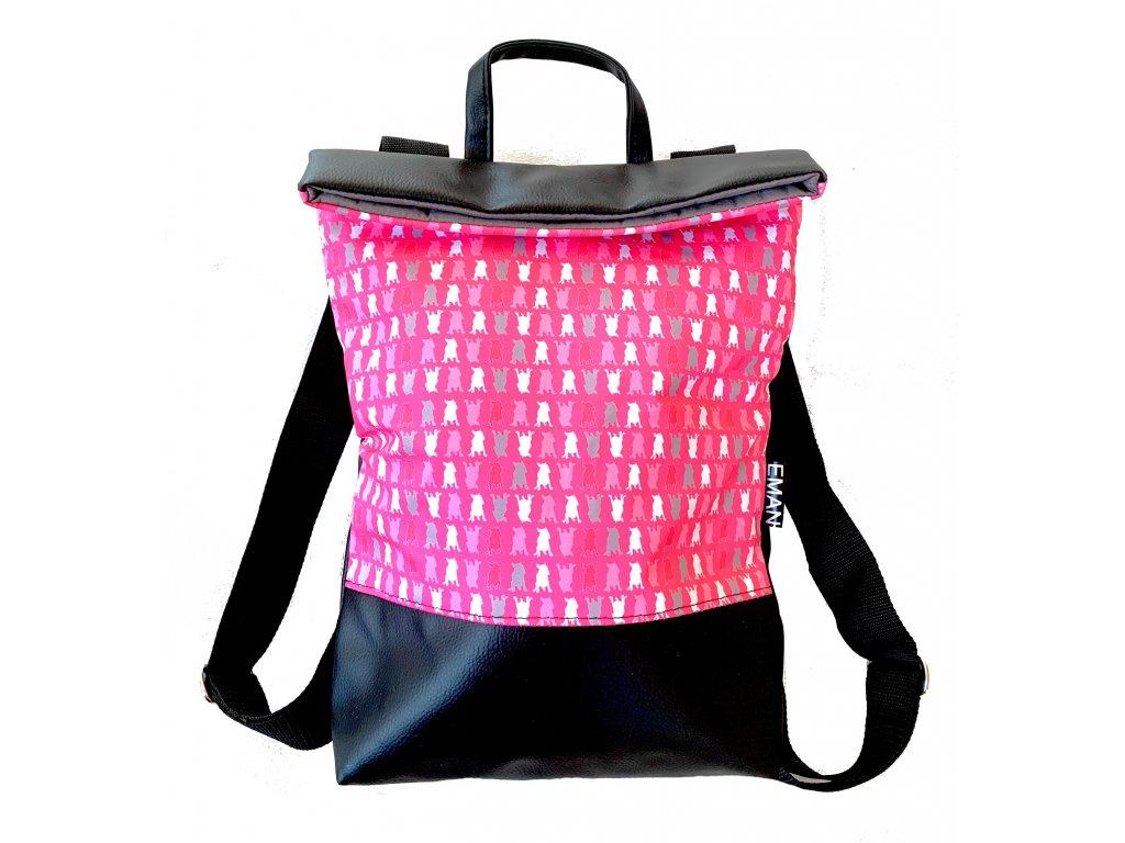 Batoh - bull-maskáč růžová (bag bull-camouflage pink)