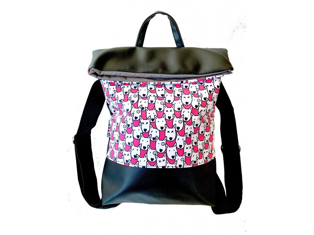 Batoh - hlavy růžová (bag heads pink)