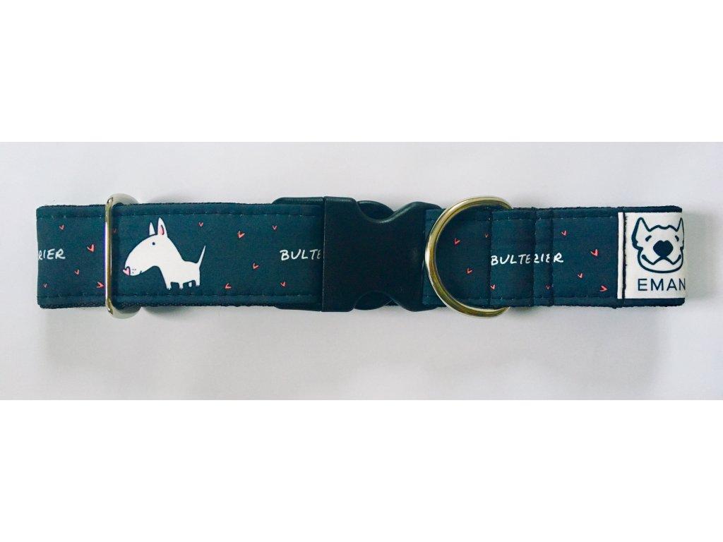 Obojek - BULTERIER černá 4 cm