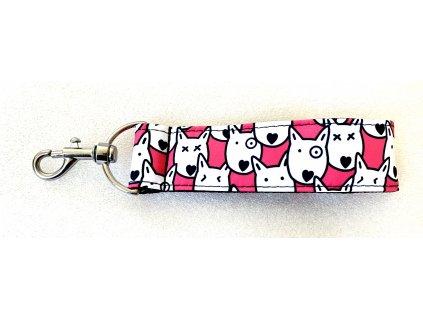 Klíčenka - hlavy růžová (key chain heads pink)