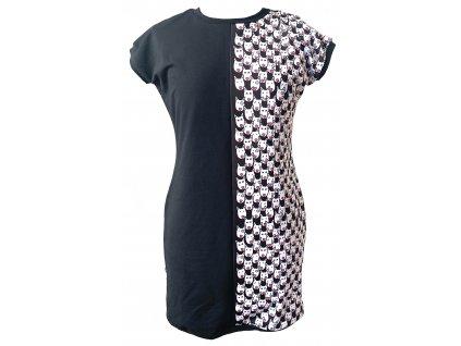 šaty - hlavy černá (dress heads black)