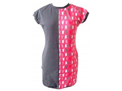 šaty - bull-maskáč růžová (dress bull-camouflage pink)