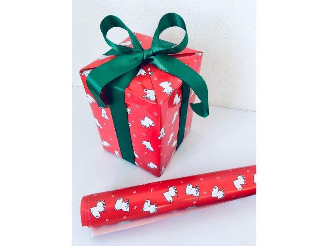 Vánoční balicí papír - červená
