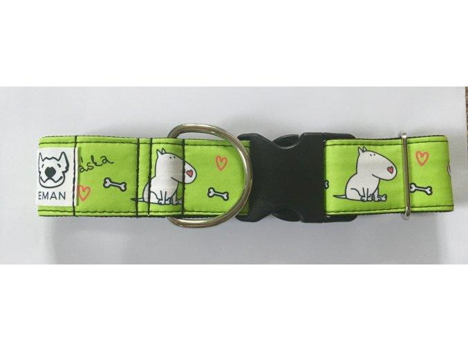 Obojek - LÁSKA zelená - 5 cm