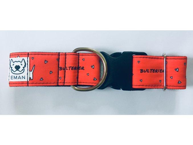 Obojek - BULTERIER červená - 5 cm