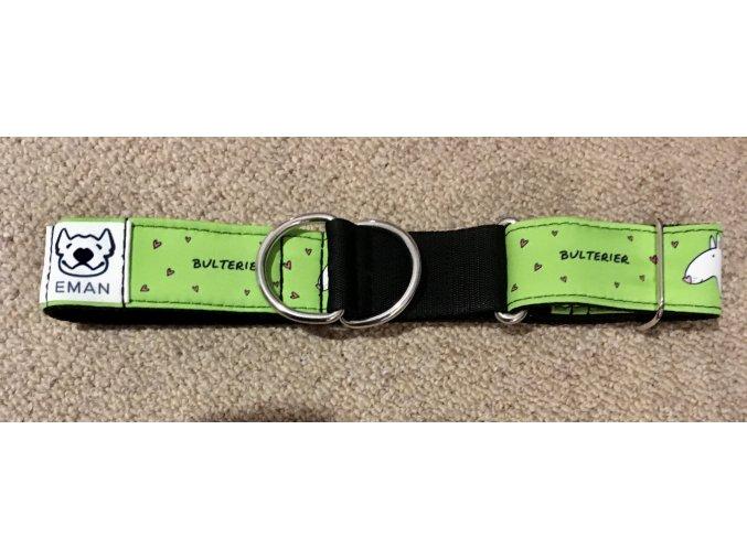 Obojek polostahovák - BULTERIER zelená