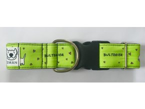 Obojek - BULTERIER zelená - 5 cm
