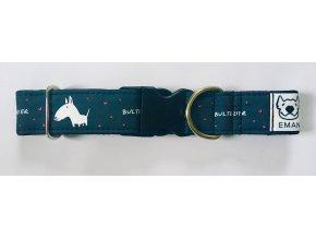 Obojek - BULTERIER černá - 5 cm