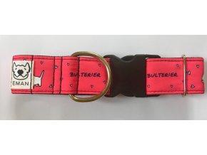 Obojek - BULTERIER růžová - 5 cm