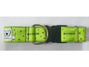Obojek - BULTERIER zelená