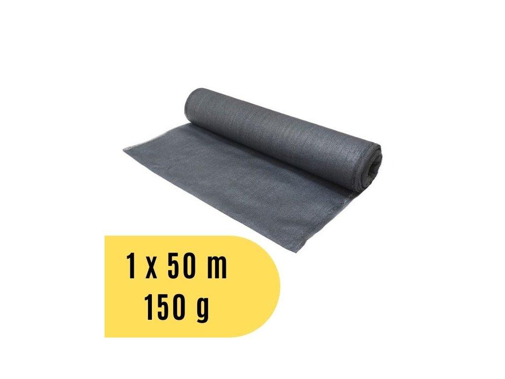 Stínící tkanina 1 x 50 m, 150 g / m2 - šedá