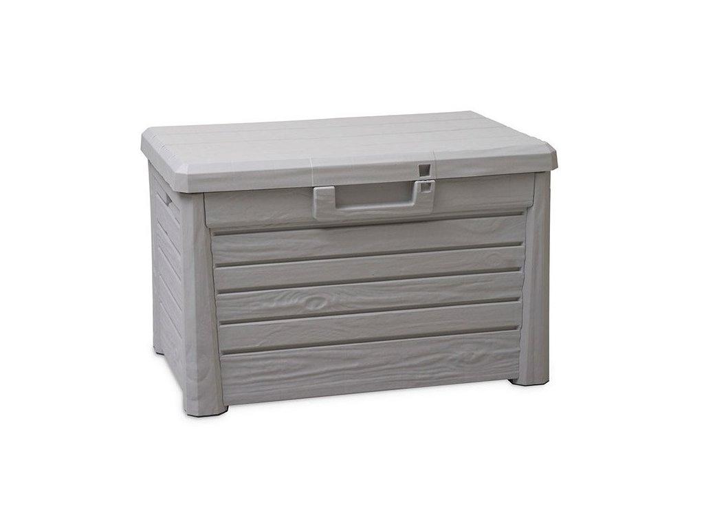 Zahradní úložný box na nářadí a polstry FLORIDA 120 L - barva šedá
