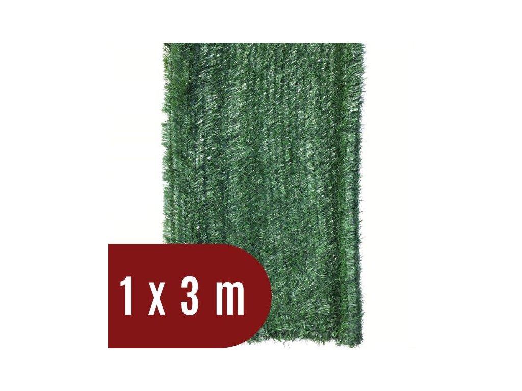 Umělý živý plot jehličnatý - výška 100 cm, balení 3 m - tmavě zelený