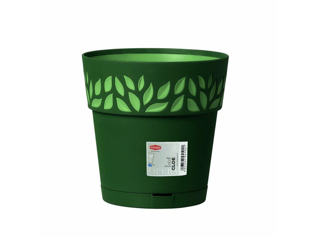 Květináč plastový Opera CLOE průměr 25 cm - barva zelená