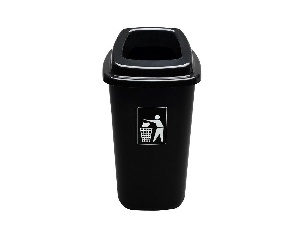 Odpadkový koš plastový SORT BIN 28 L - barva černá