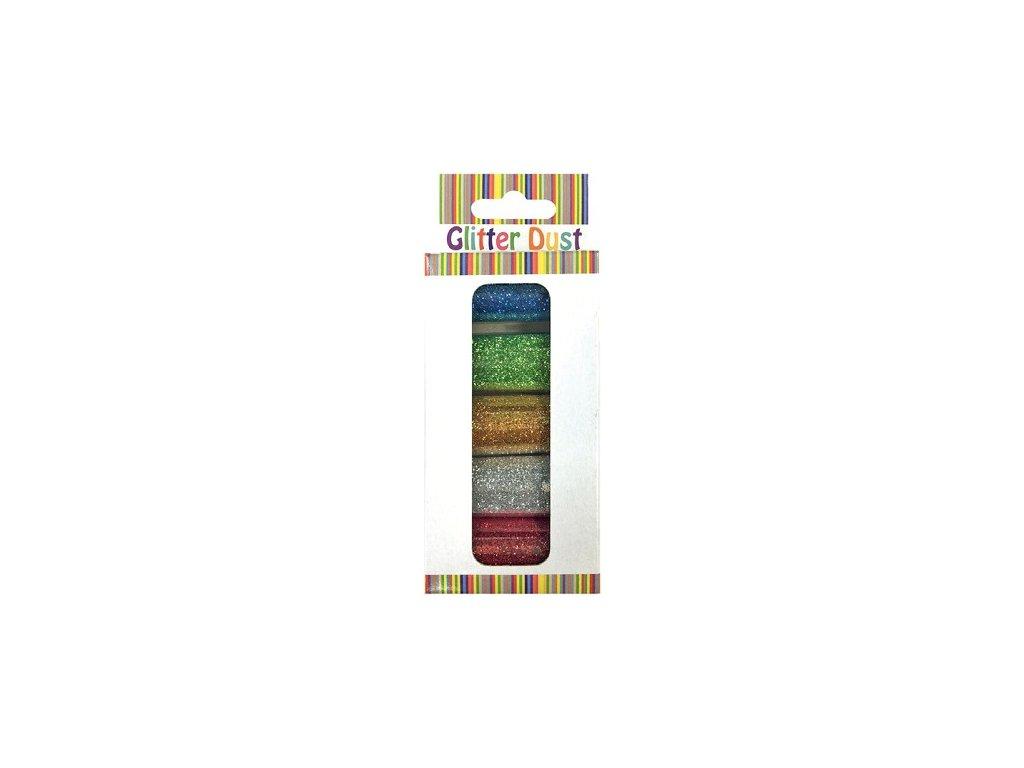 Sypké glitry 5 odstínů po 6 g