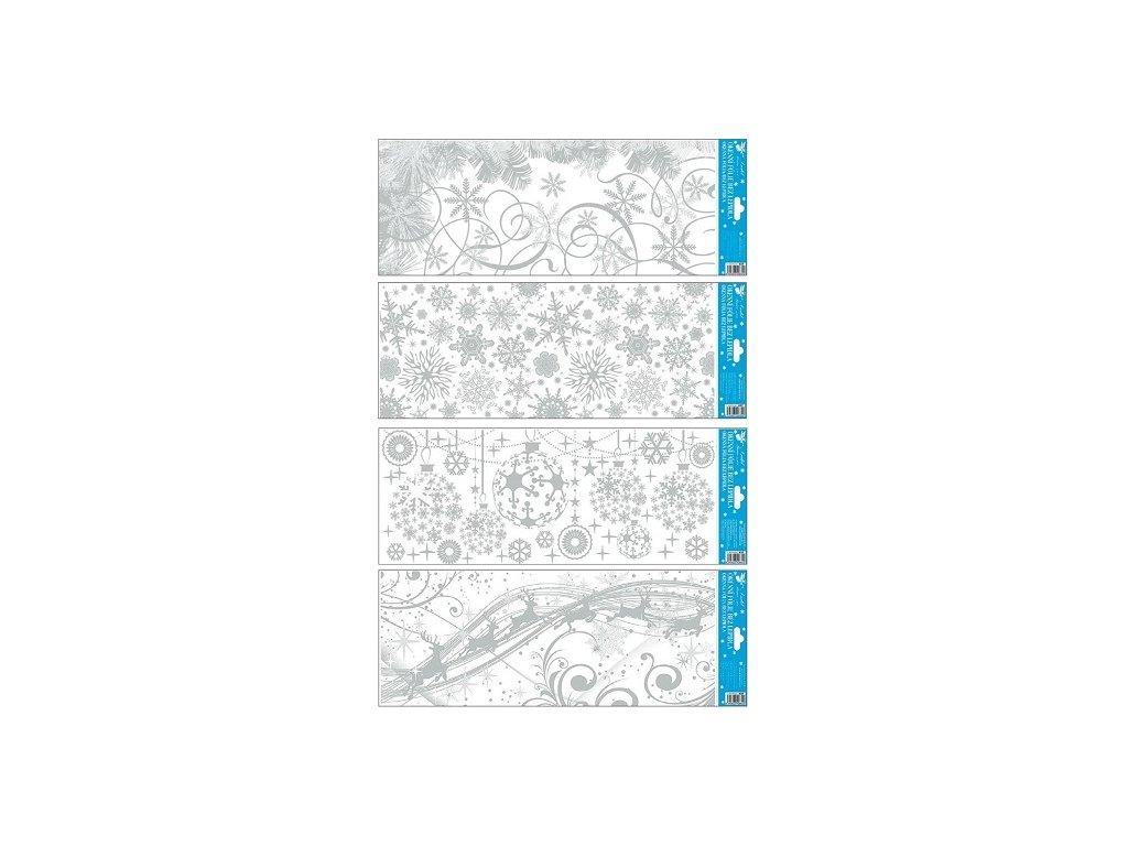 Okenní fólie zamrzlý stříbrný pruh 55 x 22,5 cm