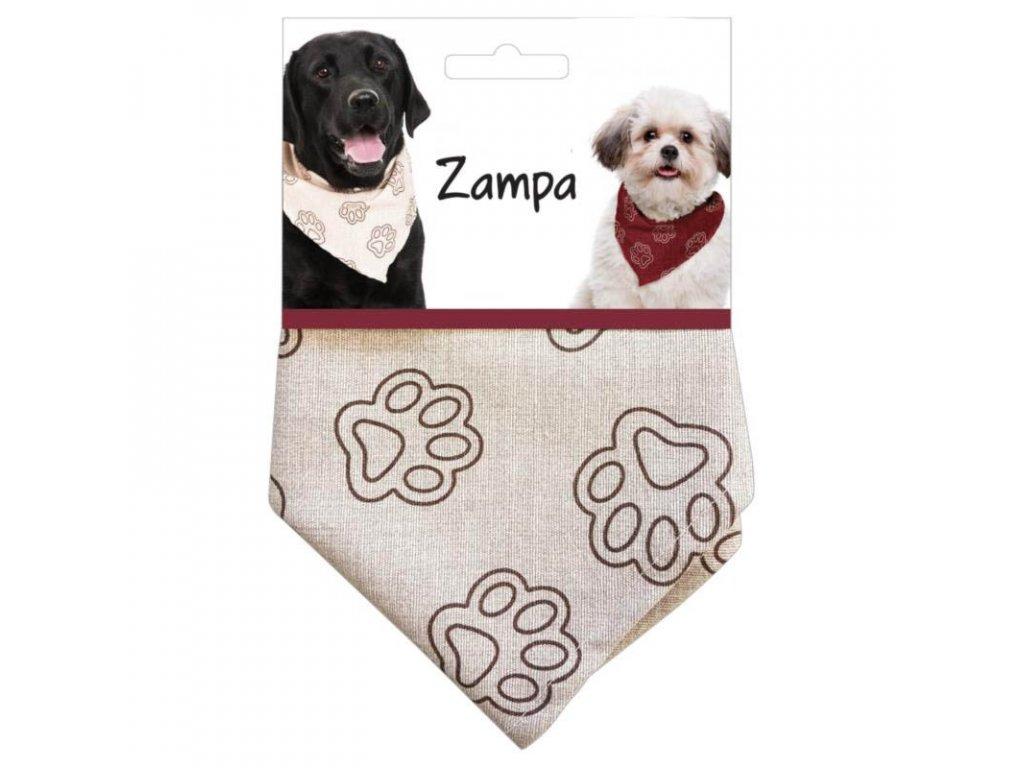 Plátěný šátek ZAMPA pro psy