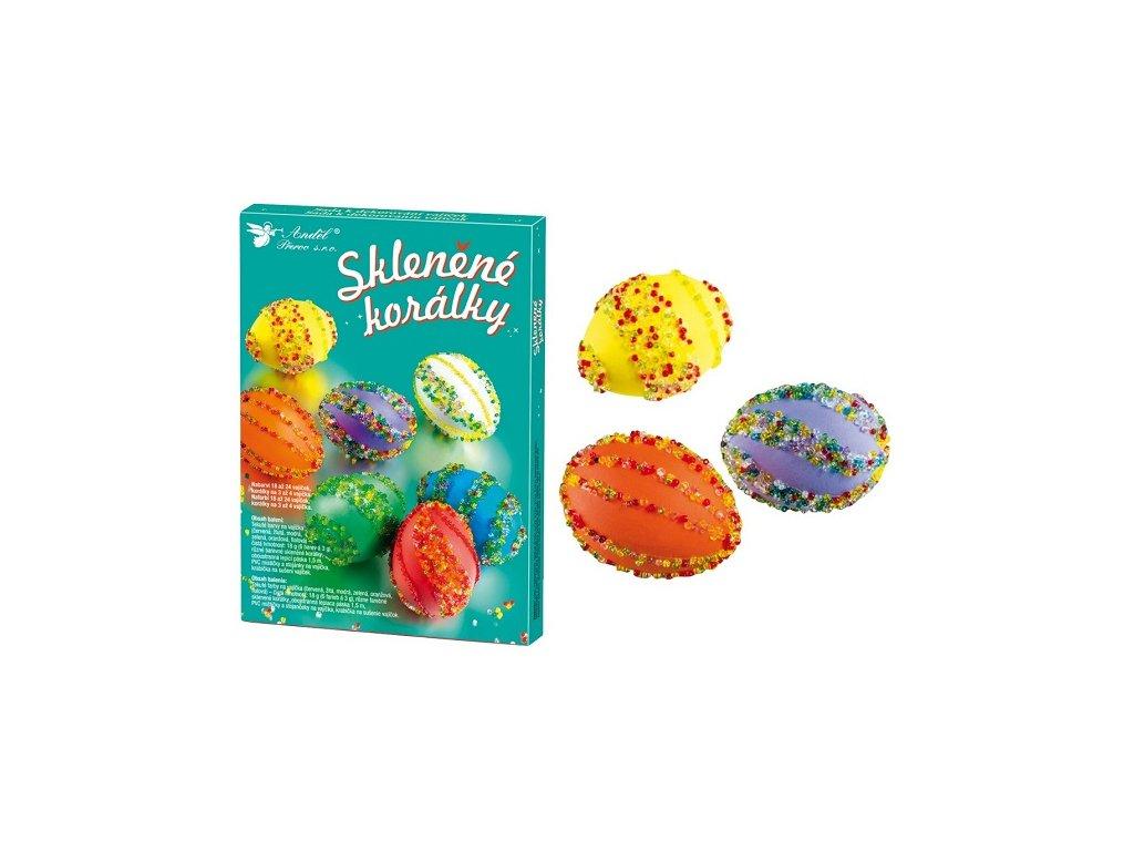 Sada k dekorování vajíček - skleněné korálky